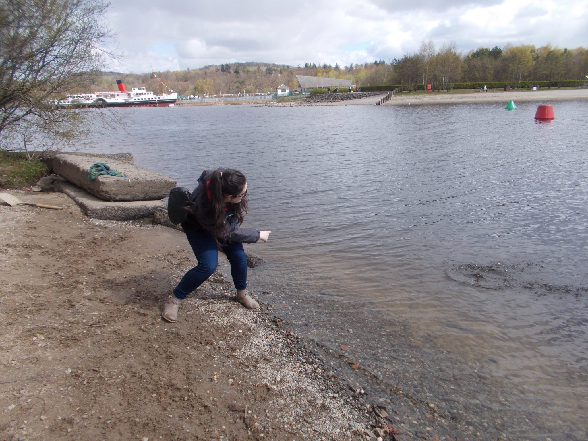 Skipping Stones at Loch Lomond Scotland