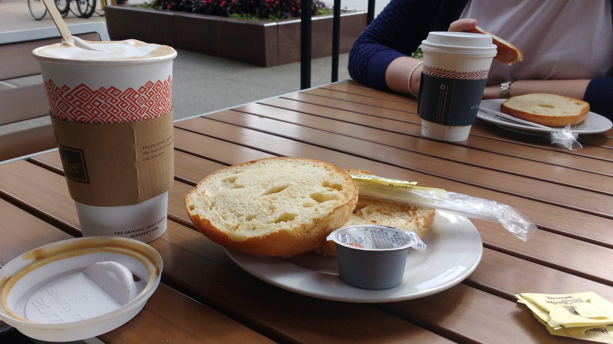 Cream Cheese Bagel Latte Peete's Coffee