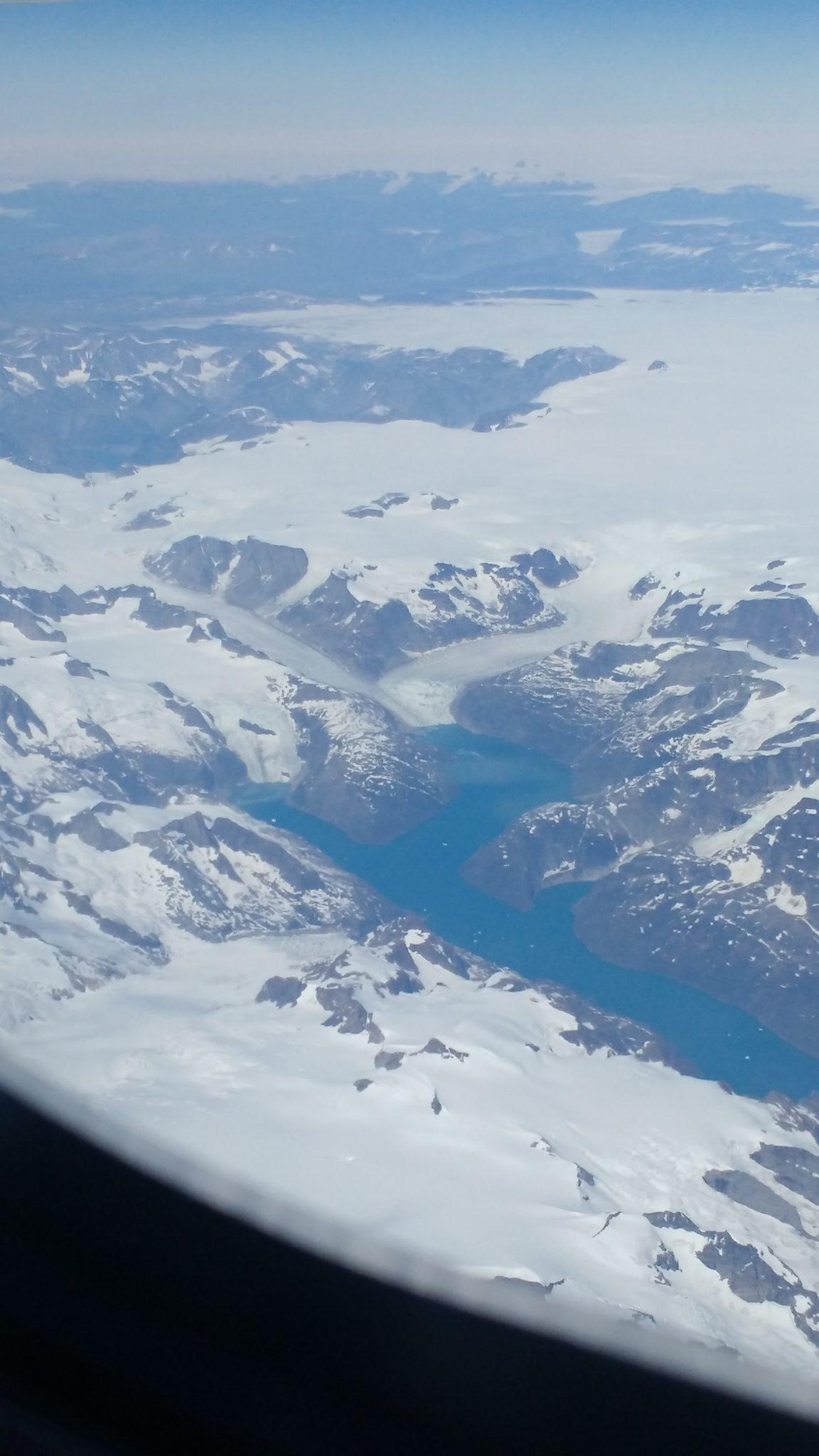 Greenland Plane Window Flyover