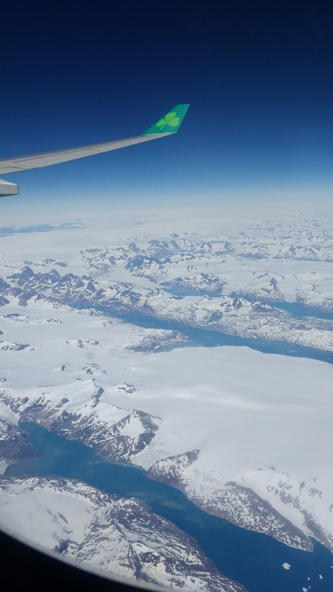Greenland Plane Window Flyover