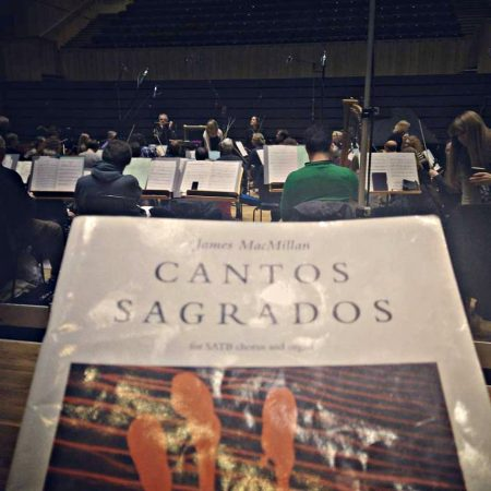 CD Recording of MacMillan's Cantos Sagrados with the National Youth Choir of Scotland