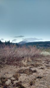 Looking to the Sncapped Summit of Goatfell, Isle of Arran
