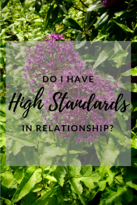 high standards in relationships