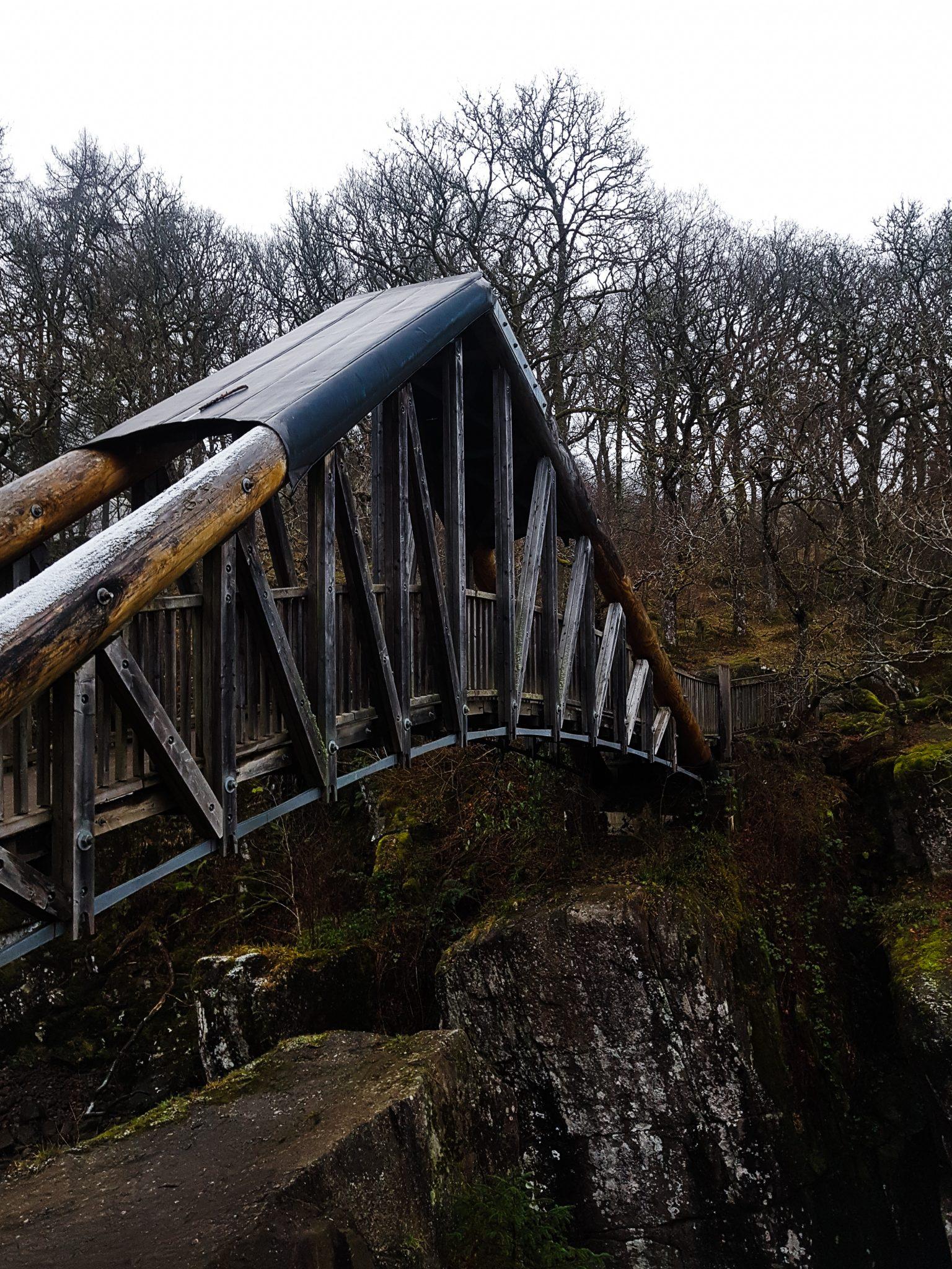 Bracklinn Falls Bridge with a Moody Edit