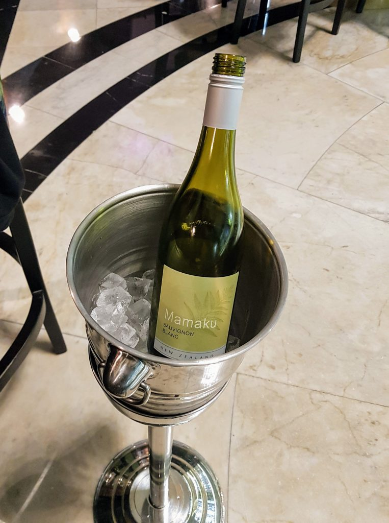 A bottle of Mamaku Sauvignon Blanc in an Ice Bucket