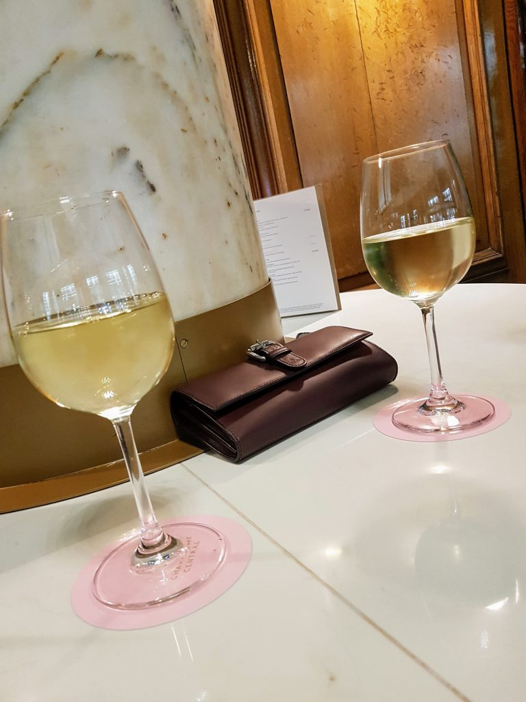 White Wine at Champagne Central, Glasgow Grand Central Hotel