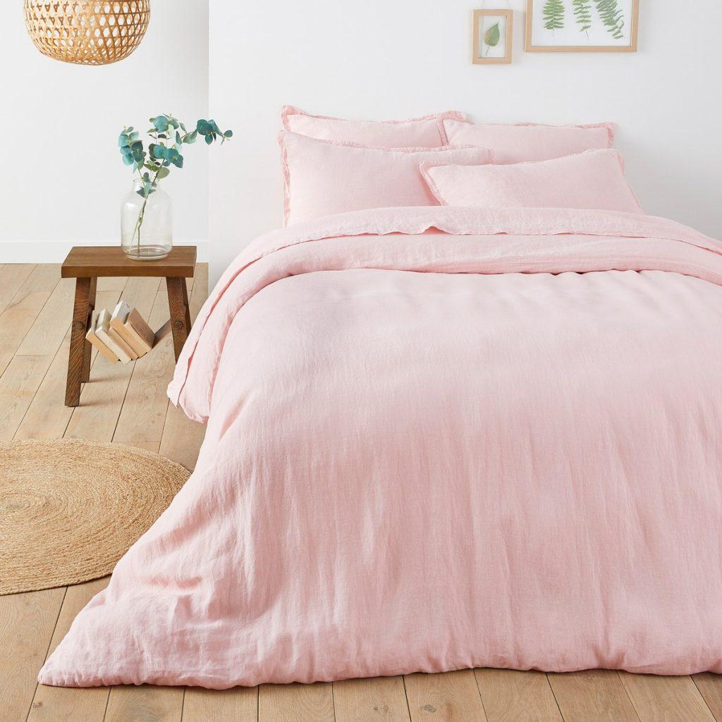 LaRedoute Pink Linen Bedding
